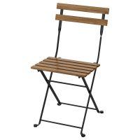 TARNO ТЭРНО, Садовый стул, складной черный/светло-коричневая морилка - 903.762.68