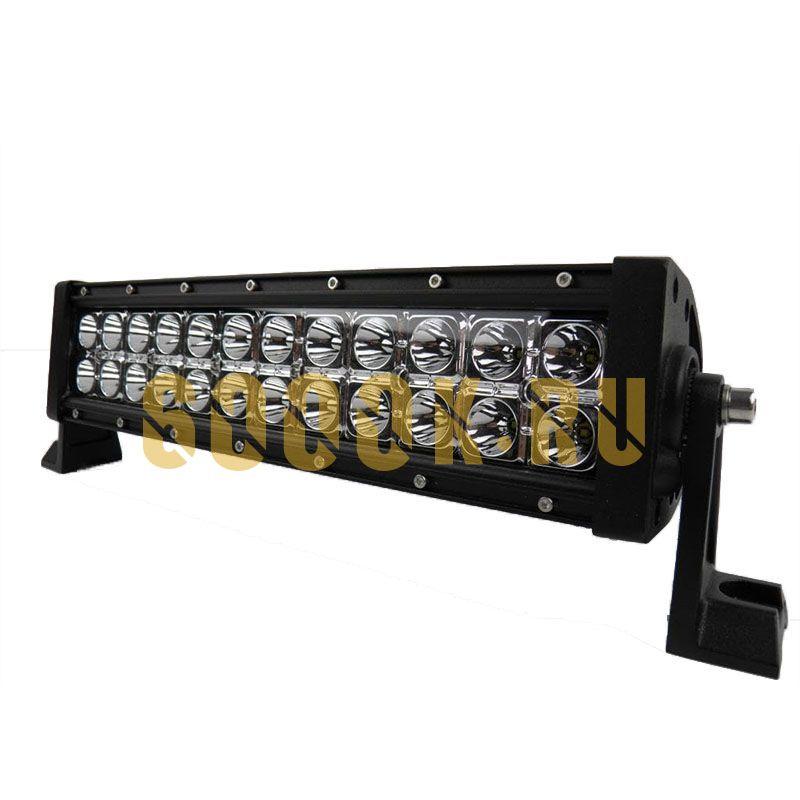 Двухрядная светодиодная LED балка 72W CREE дальнего света