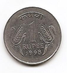 1 рупия (Регулярный выпуск) Индия 1998 Калькутта