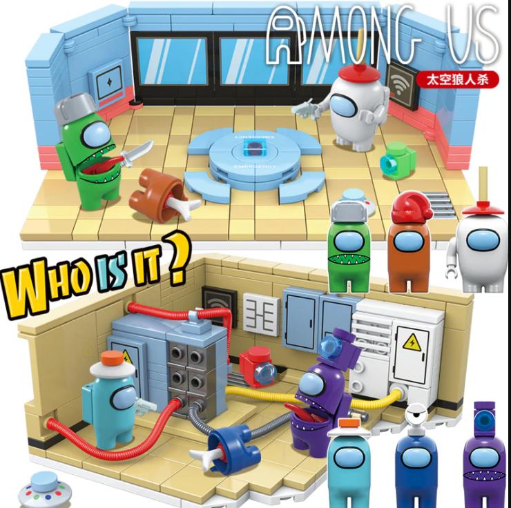 Конструктор Lego Among Us набор из 8 штук