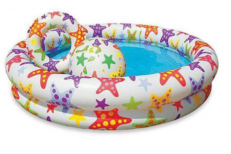 Intex 59460, надувной детский бассейн Морские Звезды
