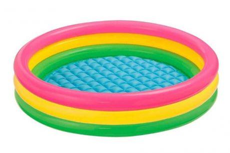 """Детский надувной бассейн """"Радуга"""" Интекс 147х33см, от 3 лет (Intex 57422)"""