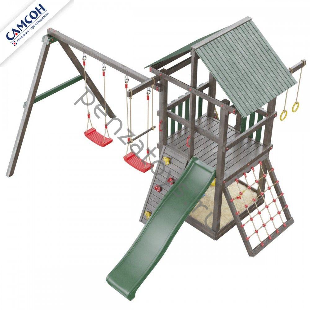 Игровая площадка для дачи Сибирика с сеткой