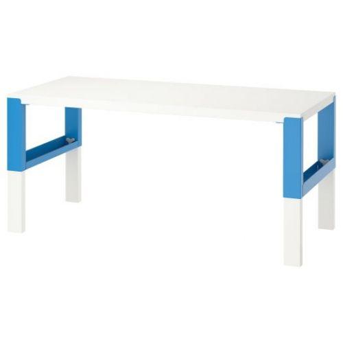 PAHL ПОЛЬ, Письменный стол, белый/синий, 128x58 см - 392.512.57
