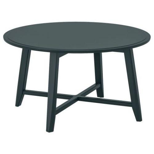 KRAGSTA КРАГСТА, Журнальный стол, темный сине-зеленый, 90 см - 504.525.89