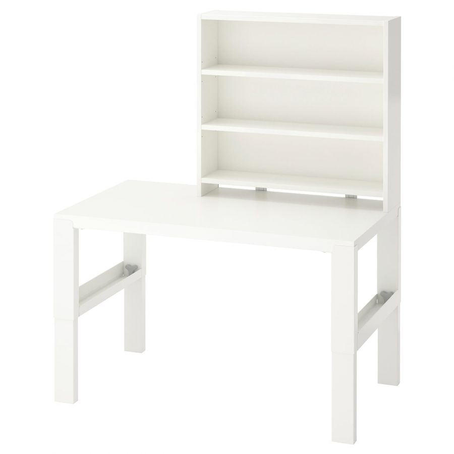 PAHL ПОЛЬ, Письменн стол с полками, белый, 96x58 см - 192.784.27