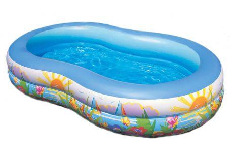 Детский надувной бассейн Intex 56490 «Райская Лагуна», 262 х 160 х 46 см
