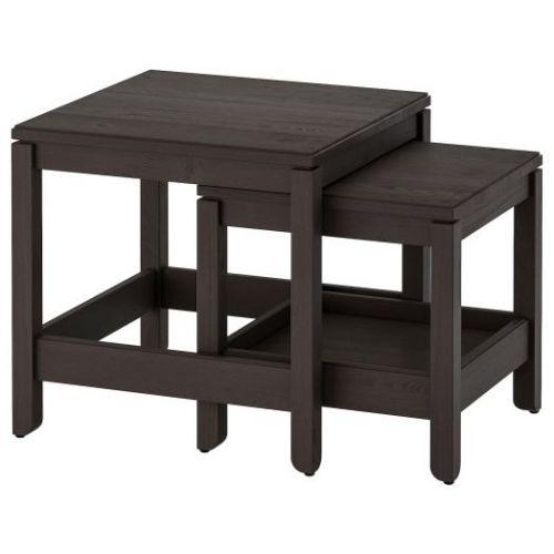 HAVSTA ХАВСТА, Комплект столов, 2 шт, темно-коричневый - 104.042.89