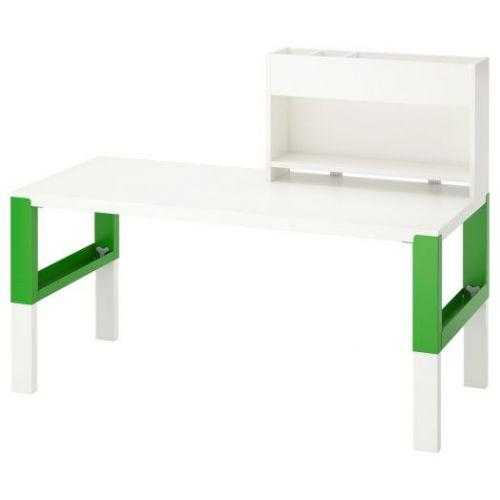 PAHL ПОЛЬ, Стол с дополнительным модулем , белый/зеленый, 128x58 см - 592.784.11