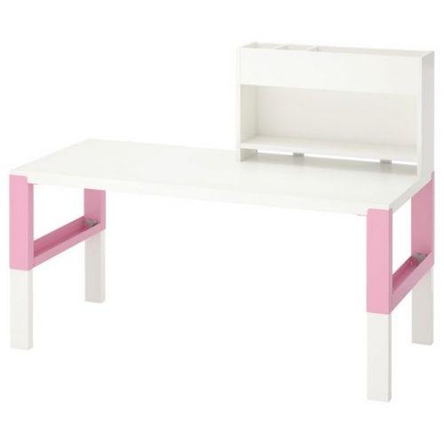 PAHL ПОЛЬ, Стол с дополнительным модулем , белый/розовый, 128x58 см - 292.512.67