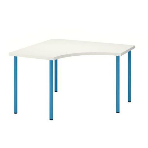 LINNMON ЛИННМОН / ADILS АДИЛЬС, Угловой стол, белый/синий, 120x120 см - 292.790.30
