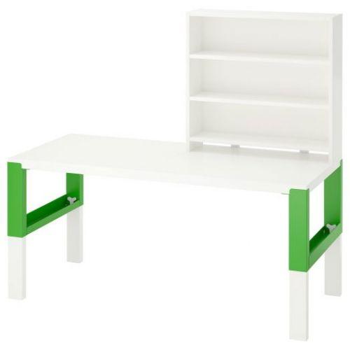 PAHL ПОЛЬ, Письменн стол с полками, белый/зеленый, 128x58 см - 192.784.13