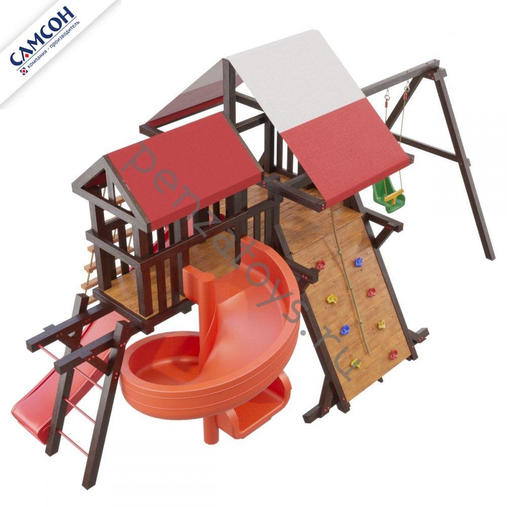Игровая детская площадка Таити Люкс с винтовым скатом