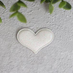 Кукольный аксессуар - Патч сердце жемчужное 3,2*2,2 см