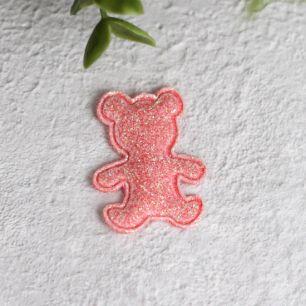 Кукольный аксессуар - Патч розовый мишка 2,6*3,3 см.