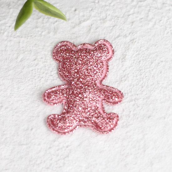 Кукольный аксессуар - Патч малиновый мишка 2,6*3,3 см.