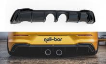 Диффузор заднего бампера, R32-look, с рёбрами