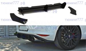 Накладка на диффузор заднего бампера VW Golf 7 GTI
