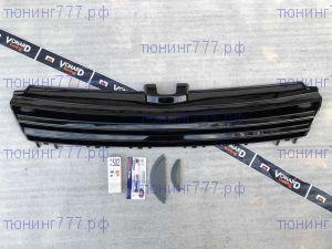 Решётка радиатора VW Golf 7 12-17 чёрная без лого