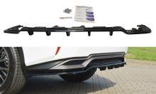 Сплиттер заднего бампера Lexus RX 4 H с вертикальными рёбрами