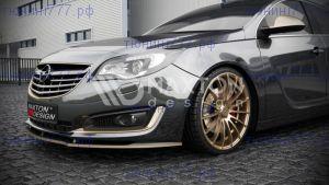 Сплиттер переднего бампера Opel Insignia рестайл