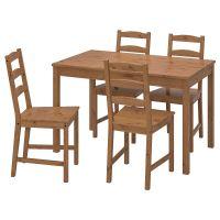 JOKKMOKK ЙОКМОКК, Стол и 4 стула, морилка,антик - 403.714.90