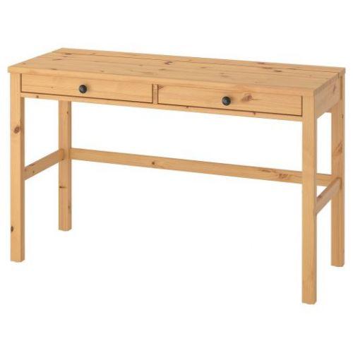 HEMNES ХЕМНЭС, Стол с 2 ящиками, светло-коричневый, 120x47 см - 103.632.22