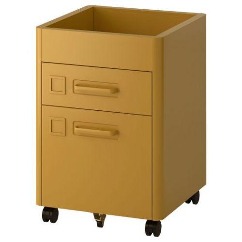 IDASEN ИДОСЕН, Тумба с электронным замком, золотисто-коричневый, 42x61 см - 392.872.99