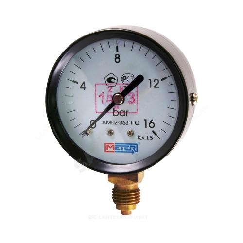 Манометр ДМ02-63-1 радиальный Дк63мм 0-25 кгс/см2 М12х1,5 Метер