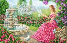 SI-720 Svit Art. Девушка с голубями у фонтана. А2