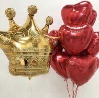 """Сет из шаров """"сердце для королевы"""""""