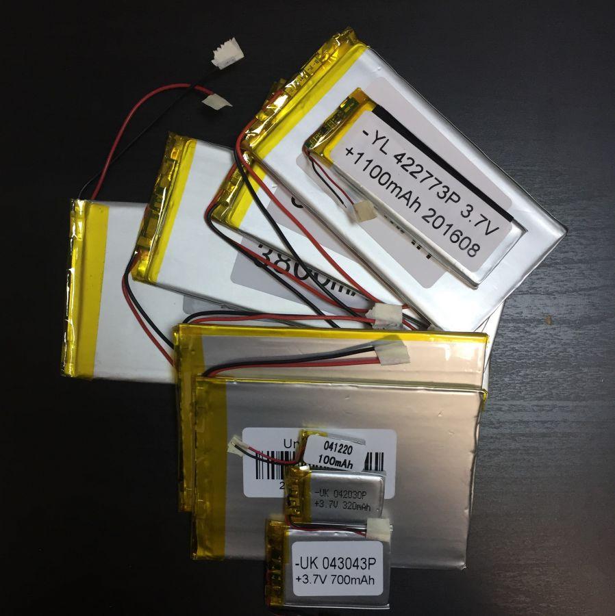 Аккумулятор технический универсальный (3.7 V/2000 mAh) (5,6 мм x 40 мм х 50 мм)