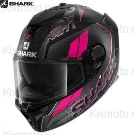 Шлем Shark Spartan GT Ryser,  Черно-розовый