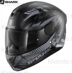 Шлем Shark D-Skwal 2 Penxa, Черный матовый с серым