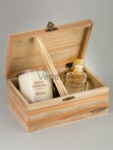 Подарочный набор деревянный сундучок (Пряное кедровое дерево) LUMIERES