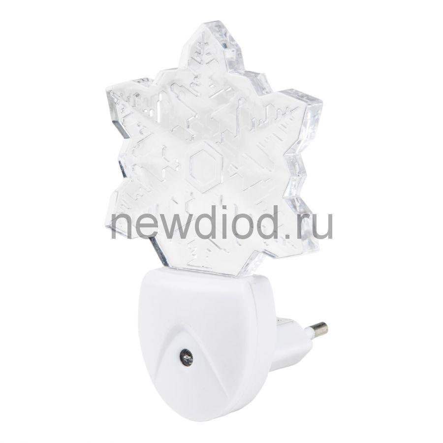 Светильник-ночник Цветок/White/Sensor DTL-315 с фотосенсором (день-ночь) белый ТМ Uniel