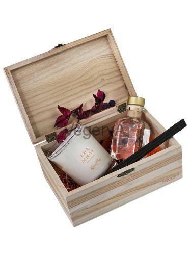 Подарочный набор деревянный сундучок (Цветение персикового дерева) LUMIERES