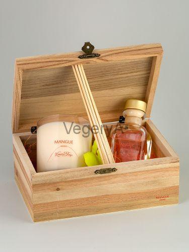 Подарочный набор деревянный сундучок (Манго) LUMIERES