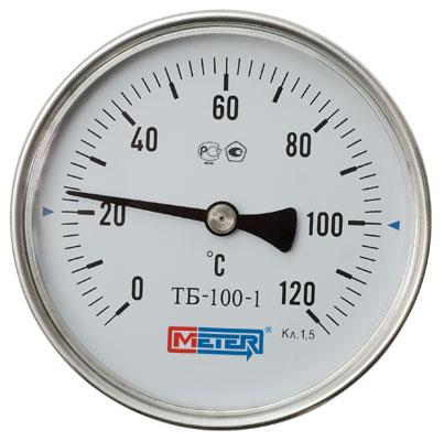 Термометр Метер ТБ-063-1 (с латунной гильзой G1/2) шток 60 мм