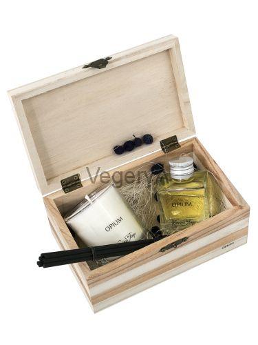 Подарочный набор деревянный сундучок (ОПИУМ) LUMIERES