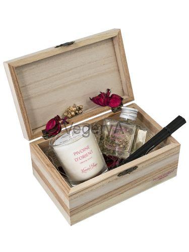 Подарочный набор деревянный сундучок (ВОСТОЧНЫЙ ПИОН) LUMIERES