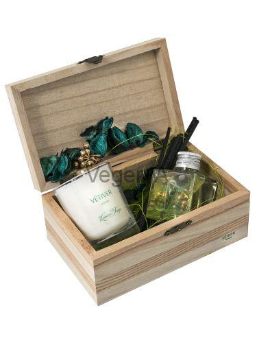 Подарочный набор деревянный сундучок (ВЕТИВЕР) LUMIERES
