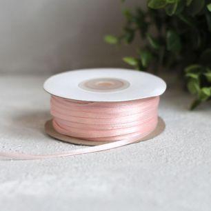 Лента атласная 3 мм, светло-розовая