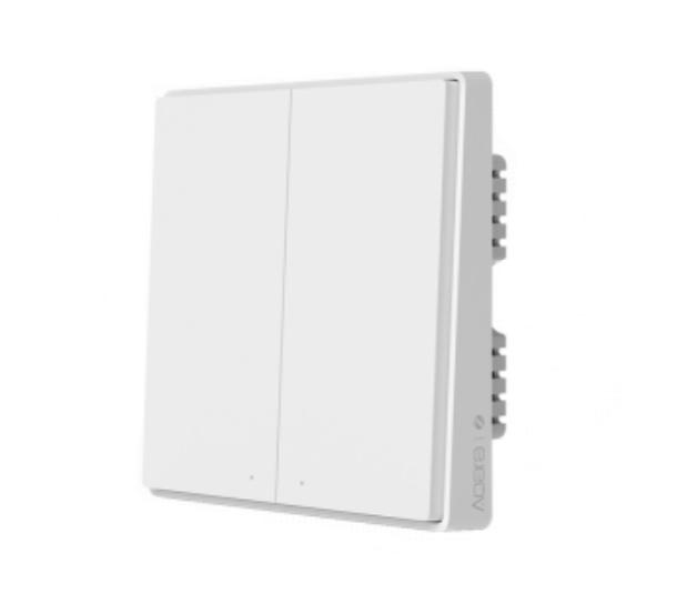 Умный выключатель Xiaomi Aqara Smart Switch D1 (двойной, с нулевой линией) (QBKG24LM)