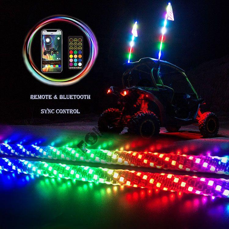 """Светодиодный Флаг-Шток """"Bright Line 1,5"""" Bluetooth, led whip RGB, хлыст"""