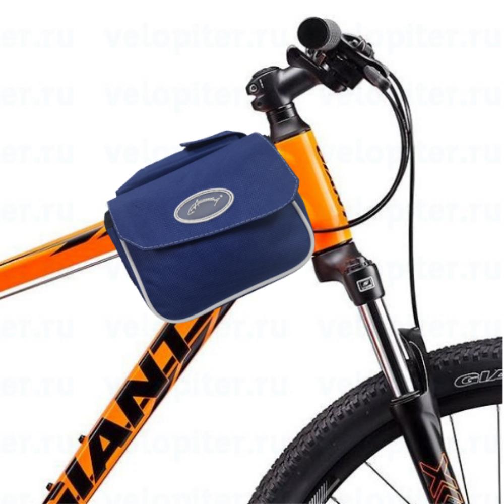 "Велосумка на раму компакт ""AcoolA"" цвет синий"