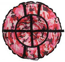 Тюбинг Hubster Люкс Pro Камуфляж розовый 90 см