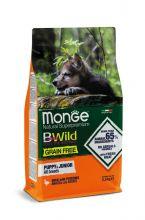 Monge Dog BWild GRAIN FREE беззерновой корм из мяса утки с картофелем для щенков всех пород 12 кг