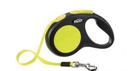 FLEXI рулетка Neon New Classic  S (до 15 кг) лента 5 м