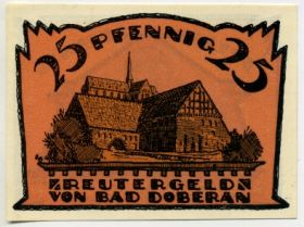 Германия. Нотгельд г. Бад-Доберан 25 пфеннигов 1921